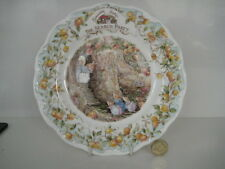 """ROYAL DOULTON BRAMBLY HEDGE 8"""" THE SEARCH PARTY PLATE BONE CHINA 1st QUALITY"""