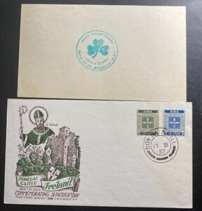 1957-Donegal-Ireland-First-Day-Cover-FDC-Donegal-Castle-St-Patrick-s-Day