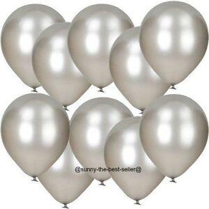 10-100-Metalique-Nacre-Ballons-10-034-Latex-baloon-pour-Anniversaire-Mariage