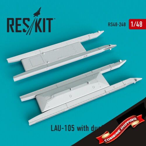 1//48 ResKit 48-0248 LAU-105 launcher with dual rail adapter for A-10 2 pcs
