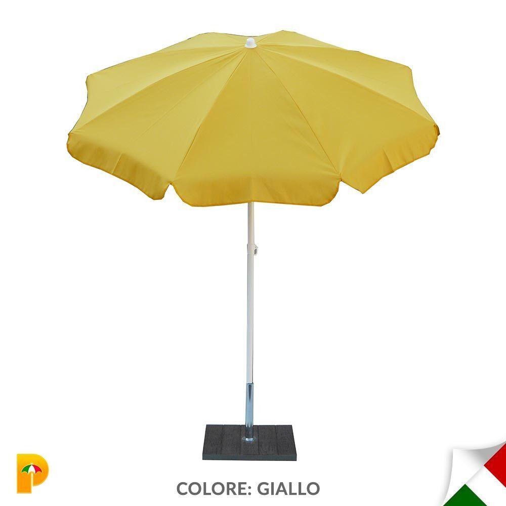 Maffei ombrellone palo centrale Novara Art.112 amarillo poliestere d. 200 cm