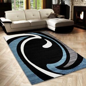 sale teppich modern desgin l ufer diamond bogen schwarz t rkis creme 80x300 cm ebay. Black Bedroom Furniture Sets. Home Design Ideas