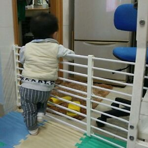 Details About Baby Safety Gate Stair Fence Door For Baby/ Child/ Pet Walk  Thru Extra Wide