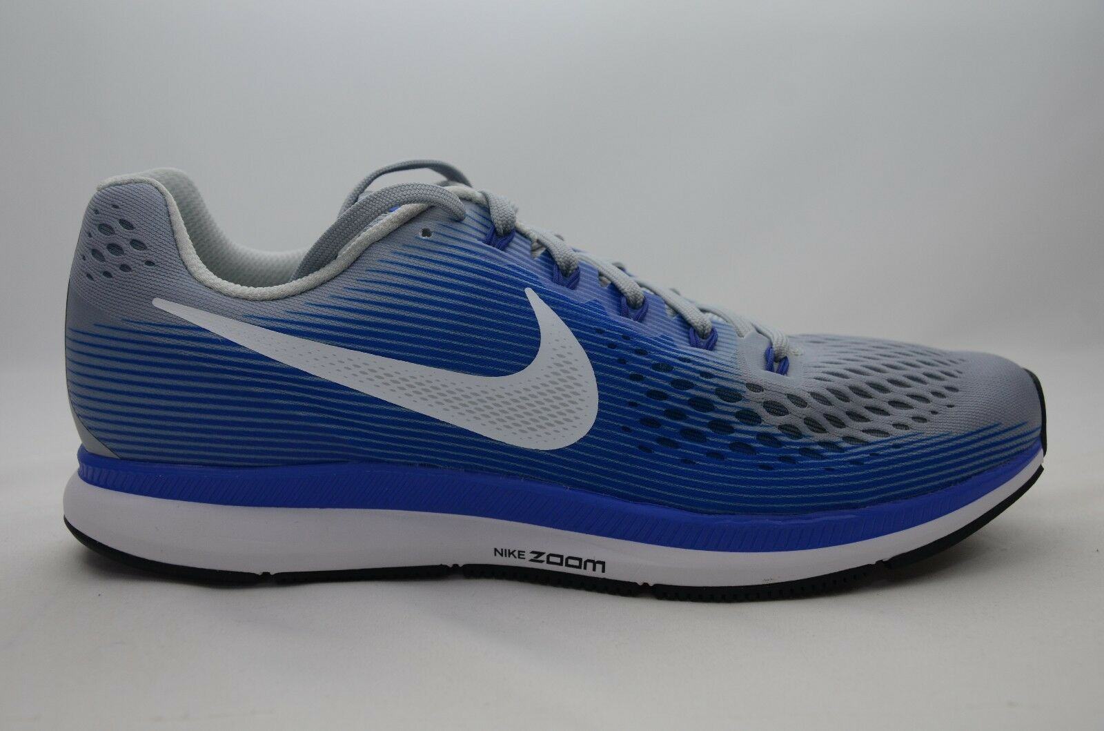 3d7d5cd74edc8 Nike Air Zoom Pegasus 34 Mens Running Shoes 8.5 Wolf Grey Racer Blue ...