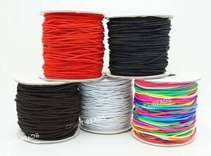 1mm 1 2mm 1 5mm 2mm 3mm Nylon Coated Round Elastic Cord