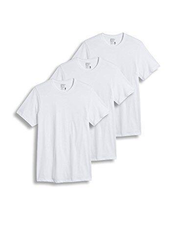 dbedf6ab Jockey Classics Diamond White Cotton Crew Neck T-shirts - Set/3 Mens Size L  for sale online | eBay