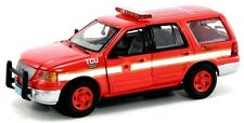 """New Gearbox 1/43 Diecast Ford Expedition """"Boston Fire Dept"""" Fire Command Unit"""