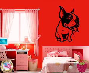 Wall-Stickers-Vinyl-Decal-Cute-French-Bulldog-Small-Dog-Animal-Portrait-EM348