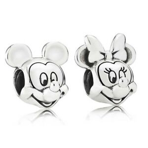 2d99498f5 Image is loading Pandora-925-sterling-silver-Disney-Mickey-amp-Minnie-