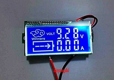 LCD dual display 10A voltage meter head band temperature with RS485 interface