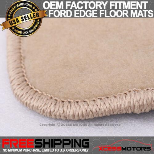Fits 07-13 Ford Edge Floor Mats Carpet Front /& Rear Beige 4PC Nylon