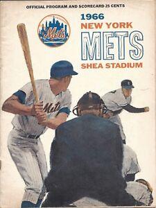 1966-8-18-Baseball-program-Pittsburgh-Pirates-New-York-Mets-scored-Mazeroski-2HR