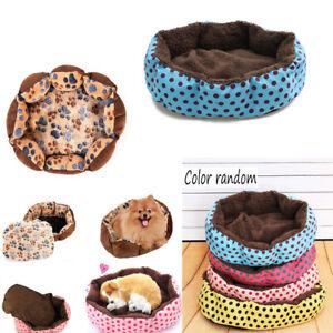 Pequeno-medio-Cama-Perro-mascota-Gato-Estera-Lana-Colchoneta-Felpudo