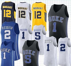 check out d9227 446b7 Details about NCAA 1 Zion Williamson Duke Blue Devils College Jersey 12 Ja  Morant Murray State