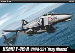 1-48-USMC-F-4B-N-VMFA-531-Gray-Ghosts-12315-ACADEMY-HOBBY-KITS