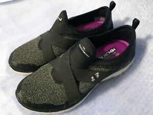 Details about SKECHERS AIR COOLED MEMORY FOAM LITE WEIGHT WOMENS BLACK SHOES Size 9