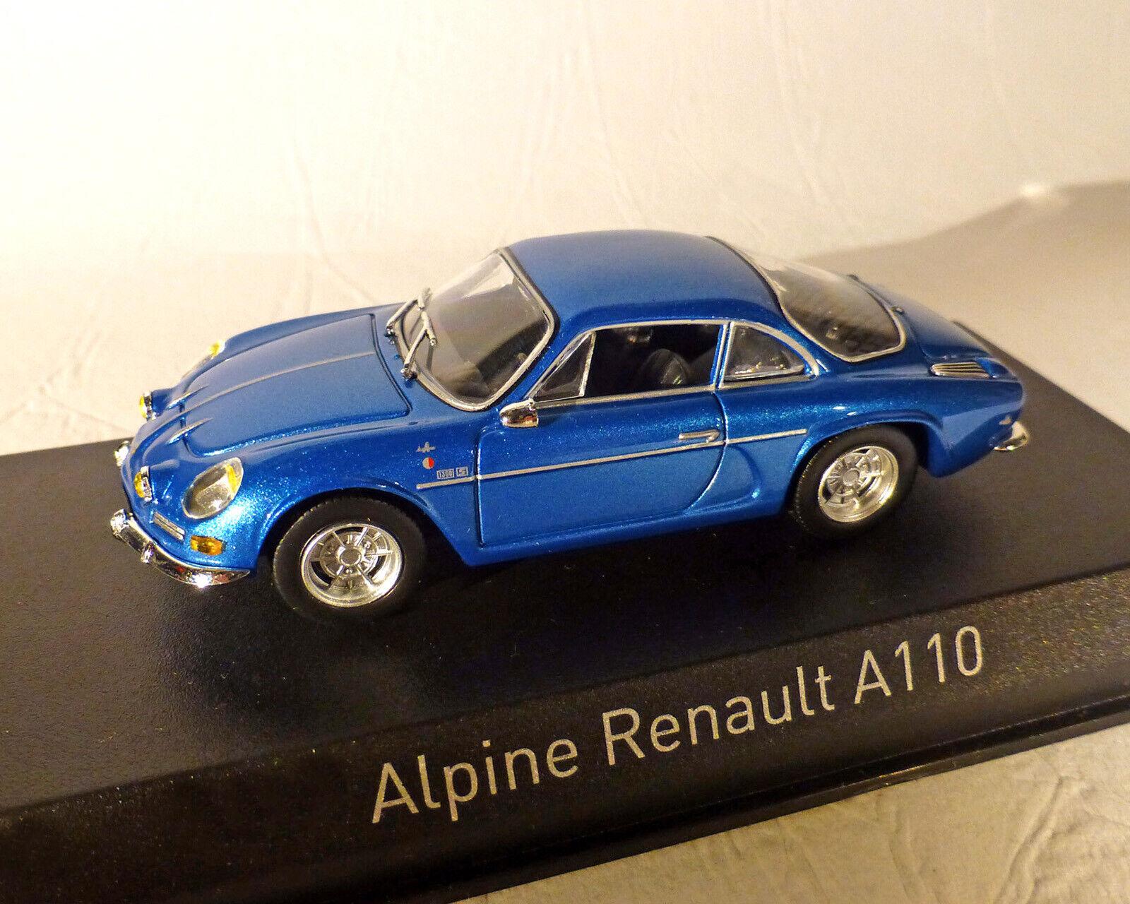 RENAULT Alpine a110 - 1973, blu-met. NOREV 1 43