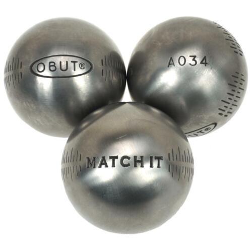 Boules de pétanque Obut Match it inox 72mm deco g Gris 57234 Neuf