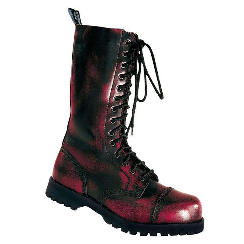 Boots & Braces 14-Loch 14-Loch 14-Loch Stiefel Rub-Off-Biker-GOTHIC-Metal-PUNK-BOOTS-NEU fade79