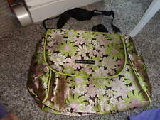 NEW PETUNIA PICKLE BOTTOM GORGEOUS GREEN AND PINK DIAPER BAG