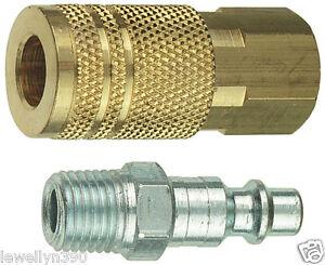 "1/4""NPT Quick Coupler Plug Set ""I/M"" Tru-Flate 13201"