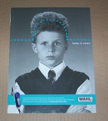 2005 print ad page  wahl home products cute boy hair