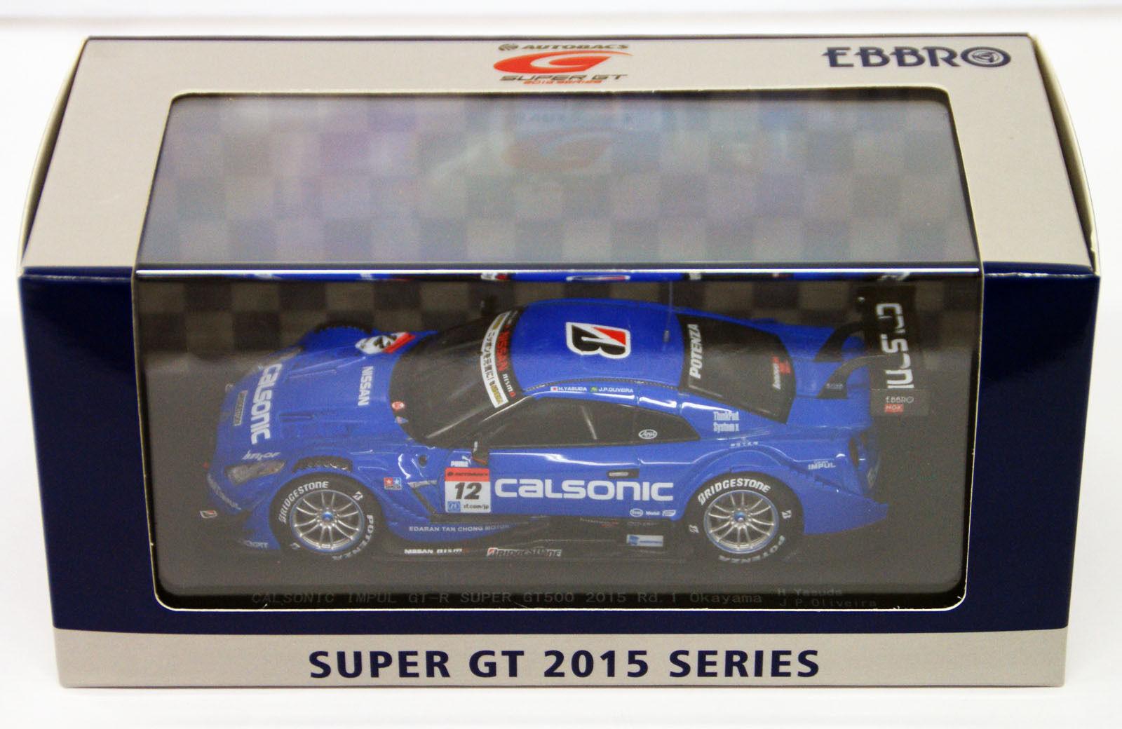 moda clasica Ebbro 45261 Calsonic Impul Gt-r súper GT500 GT500 GT500 2015 RD 1 Okayama No.12 1 43 Escala  venta caliente
