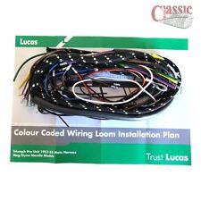 Telar de cableado principal de Lucas Triumph Unidad De PRE MODELOS T100, T110, 5T, 6T 1952-55