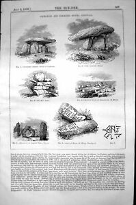Old Cromlechs Stones Cornwall Druidical Circle Hilary Architecture 18 19th