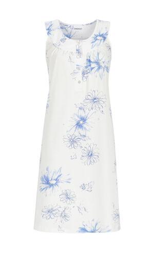 Ringella Damen Nachthemd 9211045 in Bleu ohne Arm 36 38 40 42 44 46 48 50 52 54