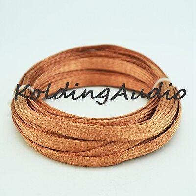 1m 3.3ft 13mm Flat Pure Copper Braid Sleeve Screening Tubular Cable DIY