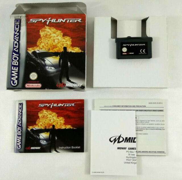 Jeu Game Boy Advance en boite VF  Spy Hunter  avec notice et cale  Envoi suivi