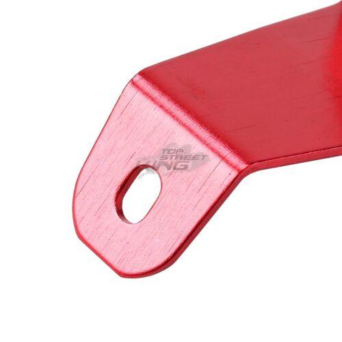 RED BILLET ALUMINUM RADIATOR BRACKET+BUMPER MOUNTING WASHER KIT FOR EG EH CIVIC