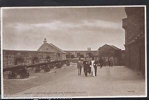 Scotland Postcard - Forewall Battery and Time Gun, Edinburgh Castle  RT829