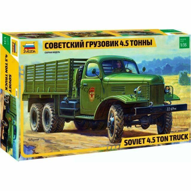 Sowjetischer 6x6 LKW 4,5t ZIS 151 1:35 Zvezda 3541