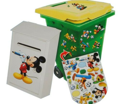 28 Pcs Set Sticker for TRASH CAN MAIL BOX-Disney Mickey Mouse Donald