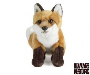 Living Nature Large Fox An259 Soft Cuddly Stuffed Animal Plush Toy