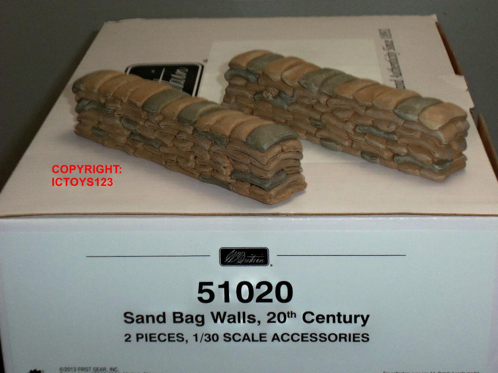 BRITAINS 51020 WORLD WAR TWO SANDBAG WALLS TOY SOLDIER FIGURE DIORAMA