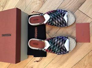 39 authentique 100 6 bnib Sandals Sliders Missoni Taille C0UqRwx