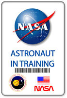 Name Badge Halloween Costume Prop Nasa Astronaut In Training Safety Pin Back