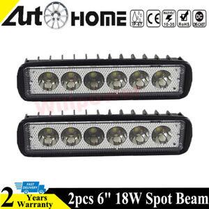 2x-6-inch-18W-LED-Work-Light-Bar-Spot-Driving-Lamp-4WD-Offroad-Car-SUV-ATV-UTE