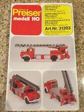 RARE Ziegler Preiser Modell HO Fire Truck 31203