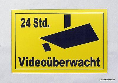 UnermüDlich 24 Std Dekoration Videoüberwacht,videoüberwachung,gravurschild,15 X 10 Cm,hinweisschild,u Um Eine Reibungslose üBertragung Zu GewäHrleisten