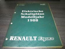 Werkstatthandbuch Elektrik Renault Espace I  Schaltpläne ab Baujahr 01/1988