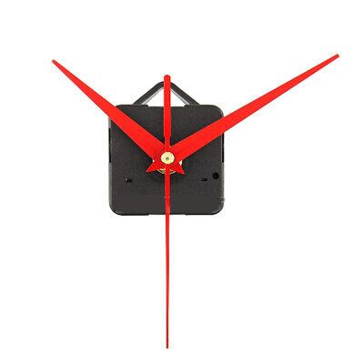 Red Triangle Hands Quartz Wall Clock Movement Mechanism Red Arrows Black Case