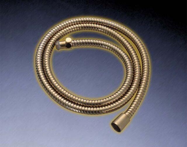 LIMITED EDITION: DESIGN GOLD DUSCHSCHLAUCH 150 CM METALL | LUXUS BRAUSESCHLAUCH
