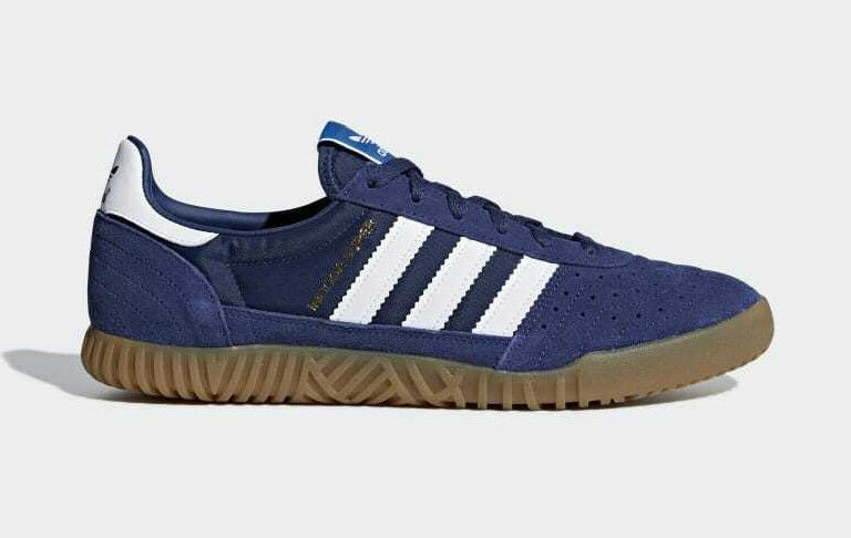 bnib ADIDAS INDOOR SUPER8 indigo / navy /  Blanc  / gum sole B41522