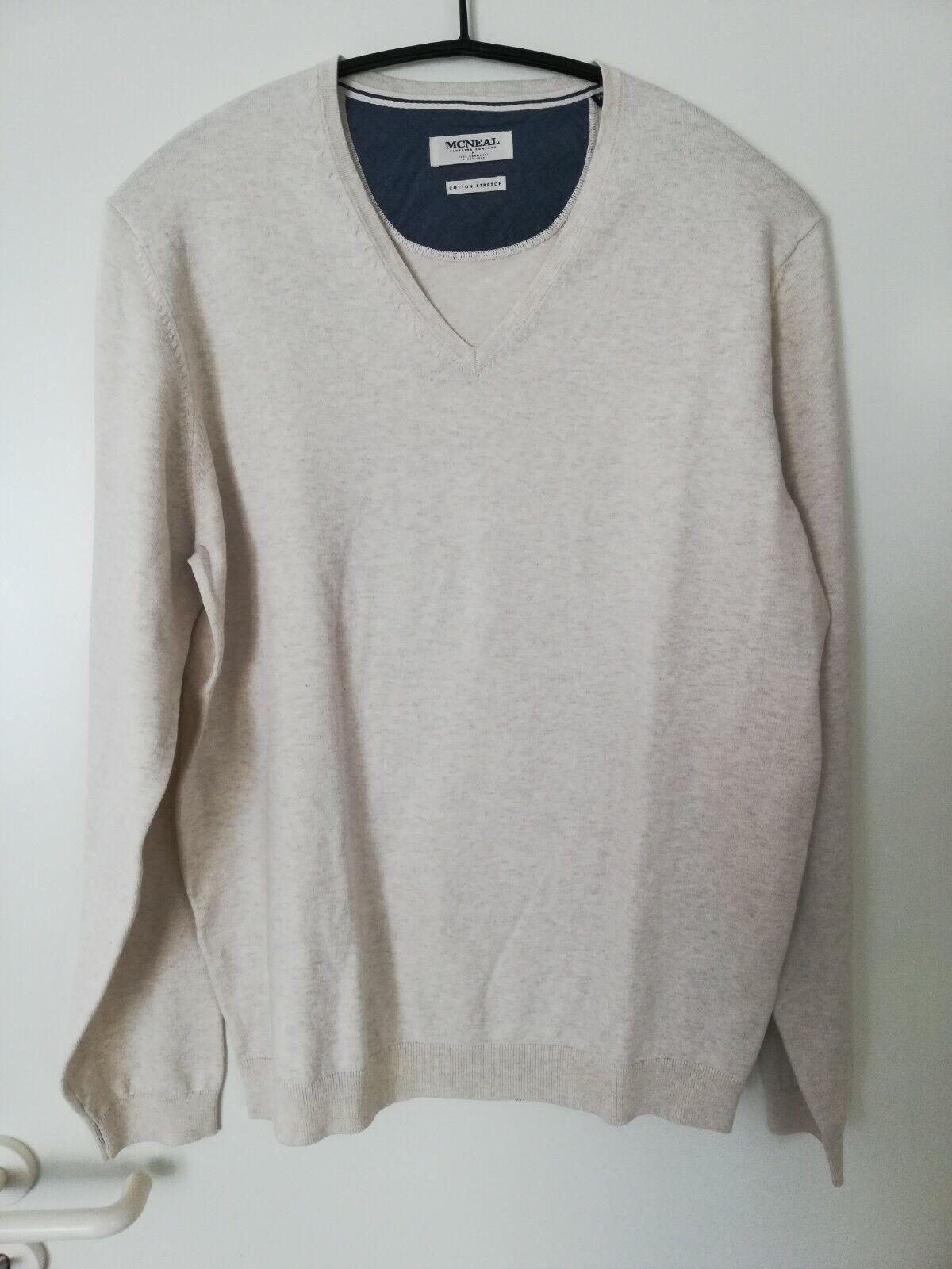 MCNEAL Cotton Nylon Stretch Herren Pullover Strick fein beige Größe XL neuwertig