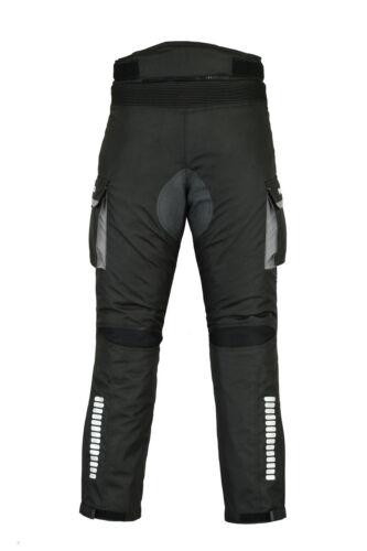 Tuta Moto Impermeabile Motocicletta CORDURA Giacca Pantalone Stivali Guanti-Grigio
