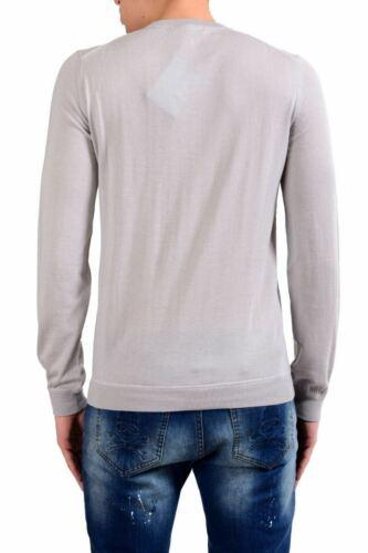 Malo 100/% Cashmere Men/'s Light Pullover Gray Crewneck Sweater Size S M L XL 2XL